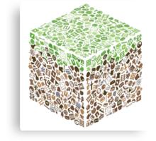 Minecraft Cube of Minecraft Canvas Print