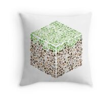 Minecraft Cube of Minecraft Throw Pillow