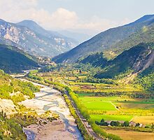Valley in the South of France by gianliguori