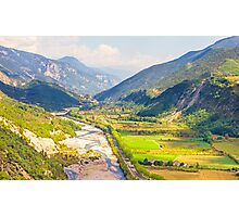 Valley in the South of France Photographic Print