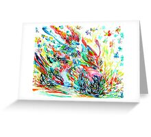 MOTOR DEMON with BUTTERFLIES Greeting Card