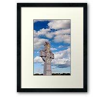 cloudy sky celtic cross Framed Print