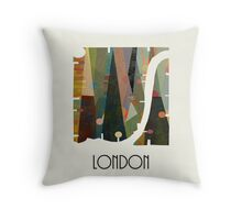 london city map abstract  Throw Pillow