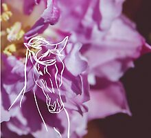 Purple Flower and Horse by sgbphotos