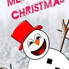 A Snowman Merry Christmas card by Dennis Melling