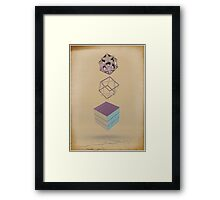 Geometric Shapes on Old Paper Framed Print