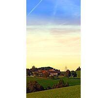 Peaceful autumn scenery   landscape photography Photographic Print