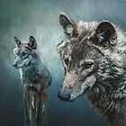 Wolves in Moonlight by Tarrby