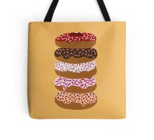 Donuts Stacked on Yellow Tote Bag