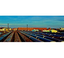 End of the Line (Color Panorama) Photographic Print