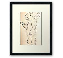 Tribearatops Framed Print