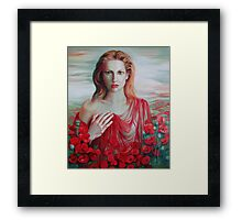 Red ocean Framed Print