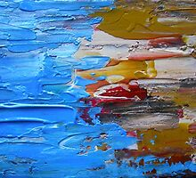 Beach Tide Acrylics On Stretched Canvas abstract impressionism by JamesPeart