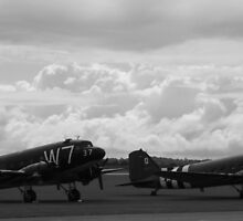 Two Douglas C-47 Skytrains @ Duxford D-Day 60th Anniversary Celebrations by PathfinderMedia