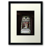 Baby Jesus Stained Glass Framed Print