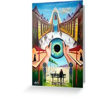 Behind empty eyes Greeting Card