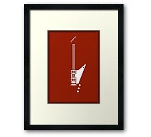 Guitar Art - Explorer  Framed Print