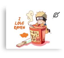 Naruto with Ramen Metal Print