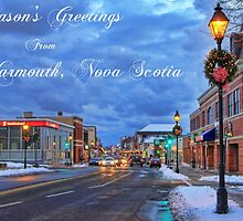 Season's Greetings from Yarmouth Nova Scotia by Debbie  Roberts