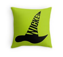 Wicked - in BLACK Throw Pillow