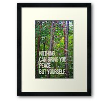 NOTHING CAN BRING YOU PEACE BUT YOURSELF Framed Print
