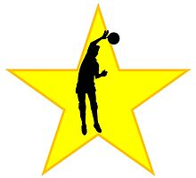 Volleyball Spike Silhouette Star by kwg2200