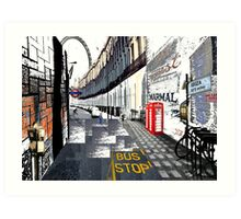 London to Ibiza Art Print