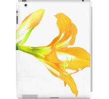 Golden Lily on White iPad Case/Skin
