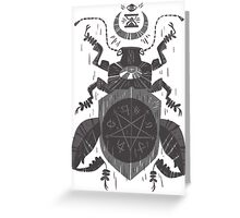 Spilling Time - Beetle Two - Grey Greeting Card