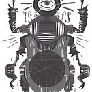 Eye of the Gods - Beetle Three - grey by Pam Wishbow