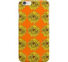 Yellow Flowers on Orange Background iPhone Case/Skin
