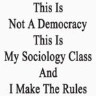 This Is Not A Democracy This Is My Sociology Class And I Make The Rules  by supernova23