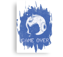 It's Game Over Mega Man, Game Over! Canvas Print