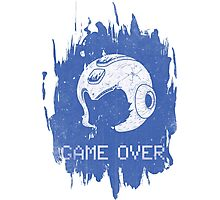 It's Game Over Mega Man, Game Over! Photographic Print