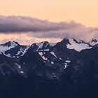 Clouds over Mount Carrie at Sunset, Olympic National Park by DArthurBrown