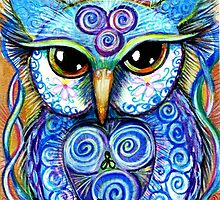 Spirit Owl, original illustration by Sheridon Rayment by BlueMoonOwl
