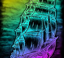 Caleuche Ghost Pirate Ship / Color by RobertoJL