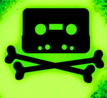 Cassette Tape and Bones Sticker