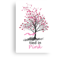Tied in Pink Anthology merchandise Tee Shirts Canvas Print