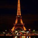 Eiffel Reflections & Light Trails by Michael Matthews
