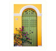 San Juan doorway Art Print