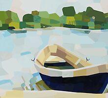 Summer Boat by HEARTartROOM