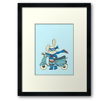 Be-All-You-Can-Be Bunny Rides in to Save the Day Framed Print