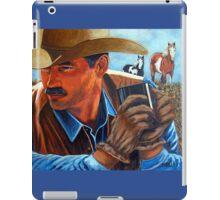 Camp Coffee #6, White Face Horses iPad Case/Skin