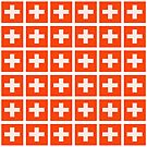 Swiss flag pattern which makes your eyes go squiffy by stuwdamdorp