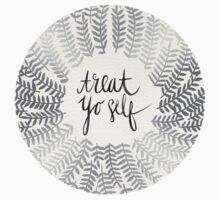 Treat Yo Self – Silver T-Shirt