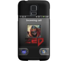 Zed Incoming Call League of Legends Samsung Galaxy Case/Skin