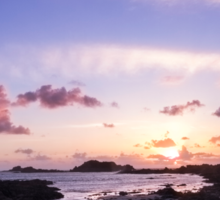 Guernsey sunset Sticker