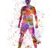 soccer football player young man standing defiance by paulrommer