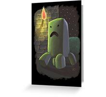 Creeper Greeting Card